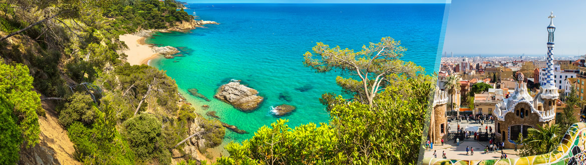Spain: Barcelona and Costa Brava, tailor-made including beach holiday